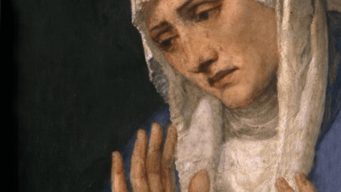 Historisches Gemälde von Mutter Maria